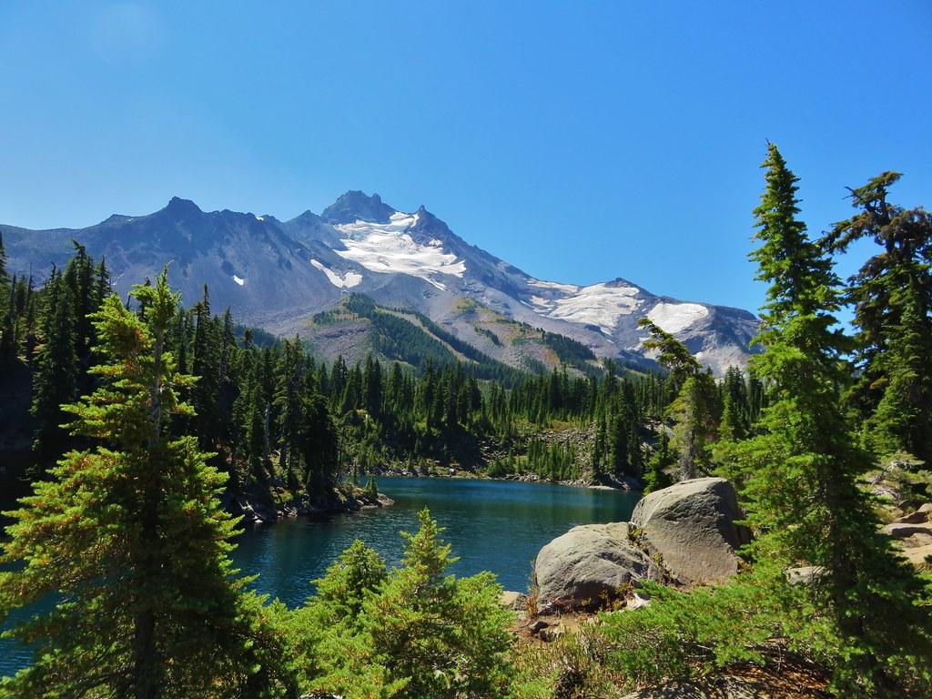 Mt. Jefferson from Bays Lake