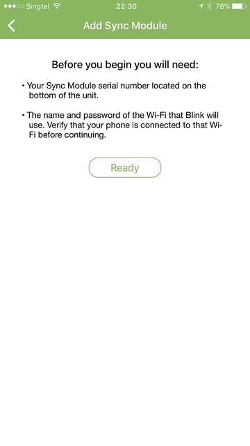 Blink iOS App - Blink Sync Module - Setup #2