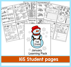 1st Grade Learning Pack - January