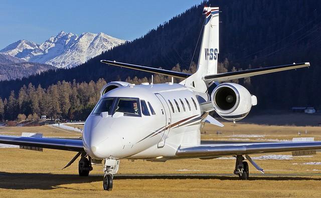 SMV/LSZS: Cessna 560XL Citation XLS VP-CSS