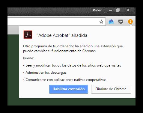 Nueva extension espia Adobe en Google Chrome