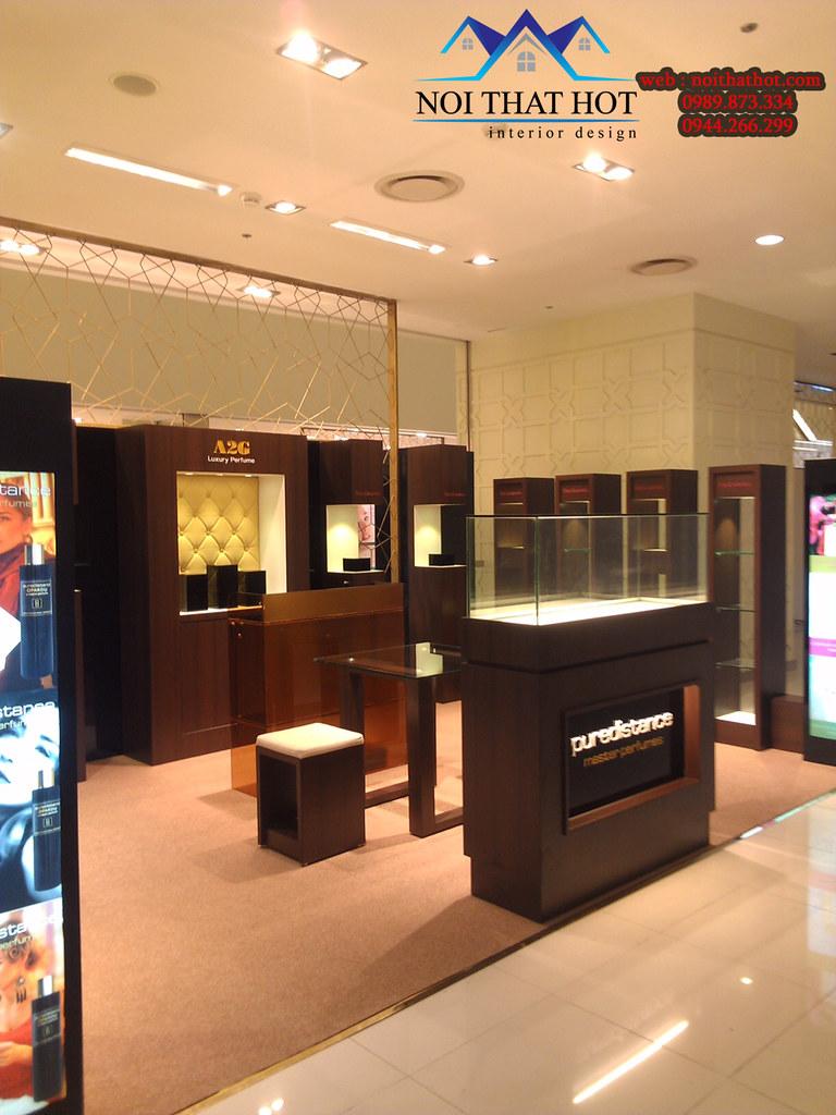 thiết kế nội thất cửa hàng mỹ phẩm chuyên nghiệp