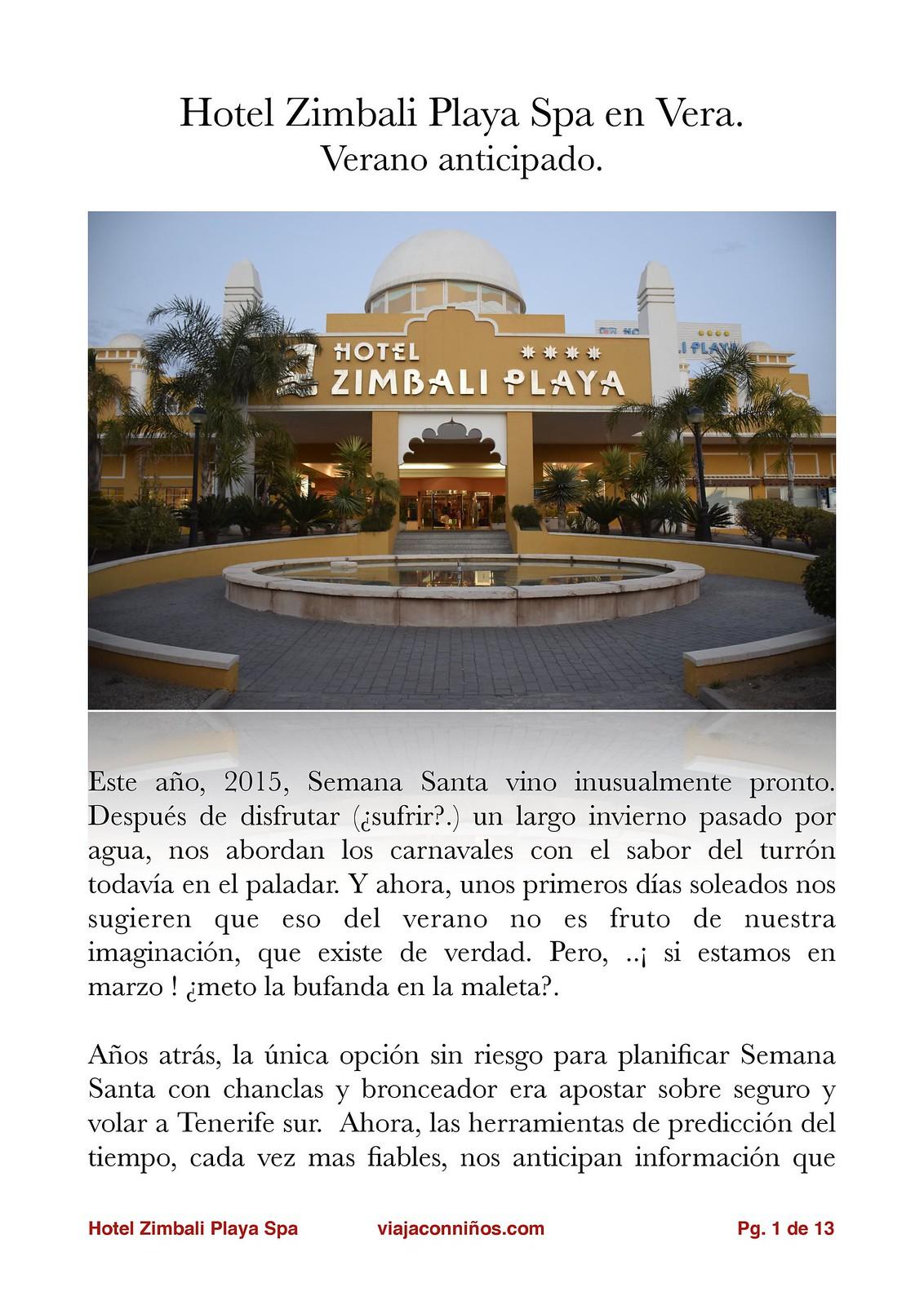 Hotel Zimbali vacaciones niños gratis