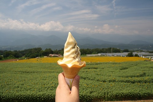 Akeno Sunflower Festival (Himawari Soft Ice Cream)