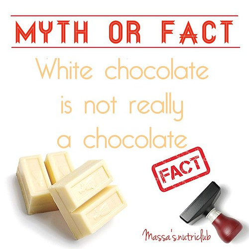 White chocolate is technically not chocolate...