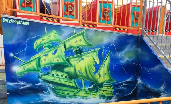 Flying Dutchman Art, Steel Pier, Atlantic City, NJ