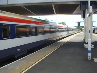 Class 442 trains at Gatwick Airport railway station