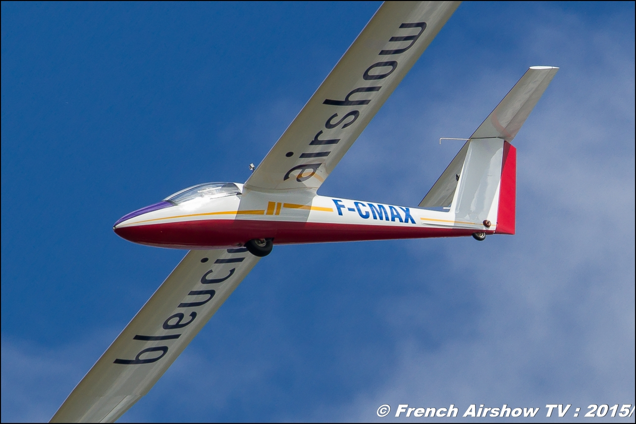 Pilatus B4 Voltige Bleuciel Airshow, Bleu Ciel Airshow 2015,F-CMAX,Denis HARTMANN, Planeur voltige Display 2015,B4 Aerobatic Airshow, BA-116 Luxeuil , Meeting Aerien 2015