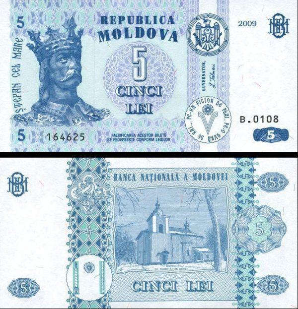 5 Lei Moldavsko 2009, Pick 9f