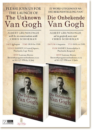 Invitation to the launch of The Unknown Van Gogh