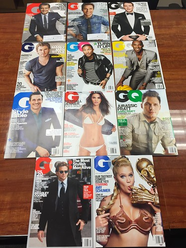 11 issues of GQ