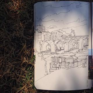 'Le pont vieux' #albi #urbansketching