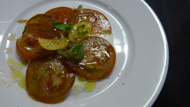 Tomato salad with horseradish cream