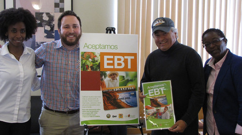 Jerry Lami (second from right), Executive Director of West Coast Farmers Market Association in California, at a Farmers Market/SNAP sign-up event