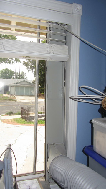 IMG_1675 Sharp portable air conditioner CV-P10PC window frame