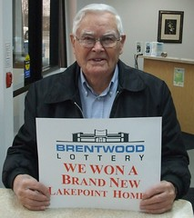 Harold Hall, winner of the Brentwood Lottery XXV Dream Home.