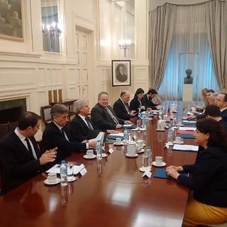 Συνάντηση ΥΠΕΞ, Ν. Κοτζιά, με Υπουργό Εξωτερικών της Αλβανίας, D. Bushati (ΥΠΕΞ, 02.03.2017)