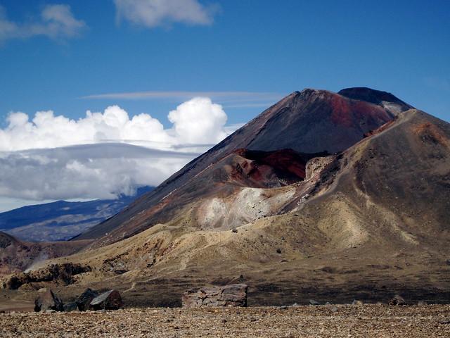 Volcán Tongariro, zona volcánica de Taupo, Nueva Zelanda