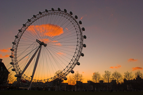 The Eye at sunset (Saturday 25 February)