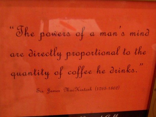 Coffee Quote at Panera