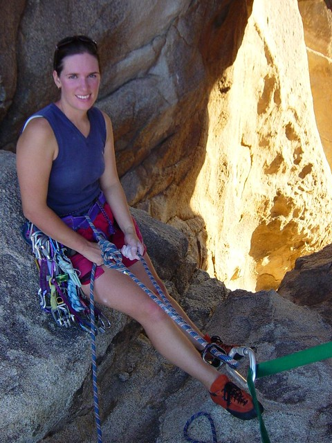 Mel on belay, Joshua Tree NP | Flickr - Photo Sharing!