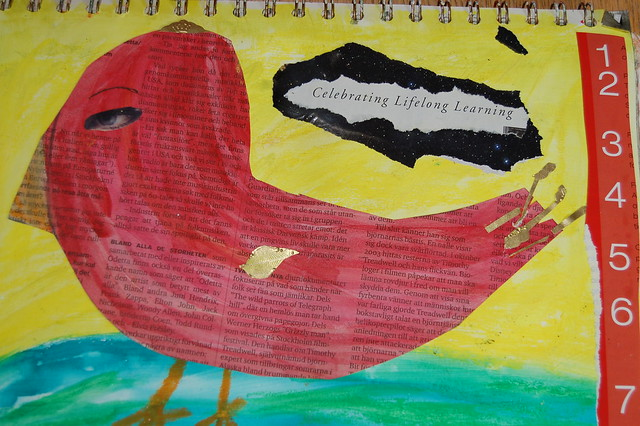 Celebrating Lifelong Learning Bird (Copyright Hanna Andersson)