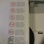 Photocopier signs