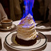 Flaming baked Alaska