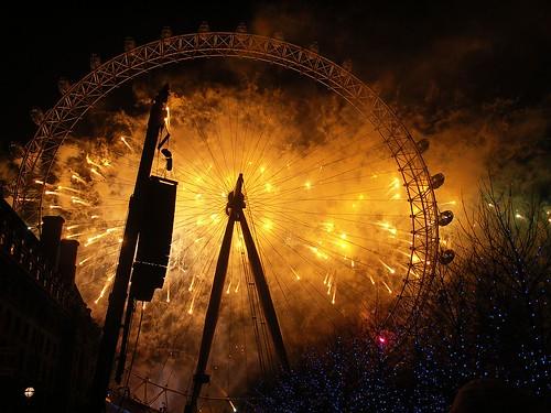 London Eye Fireworks 2005/6 (3)
