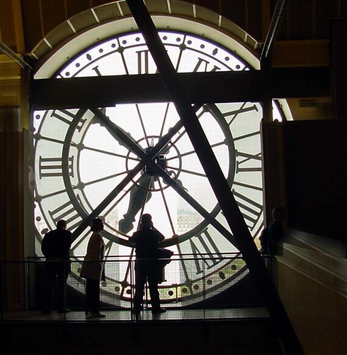 Behind the clock at the Gare D'Orsay museum Paris