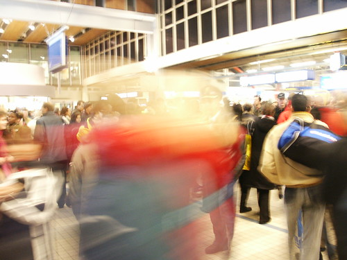Busy Utrecht Central station