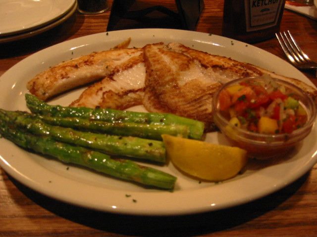 frg grilled tilapia with mango salsa and asparagus | Flickr - Photo ...