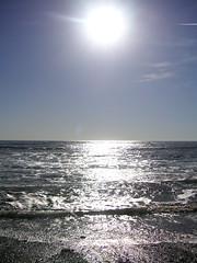 Sun reflecting in ocean