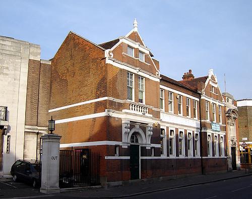 Stoke Newington Library with WW2 camo
