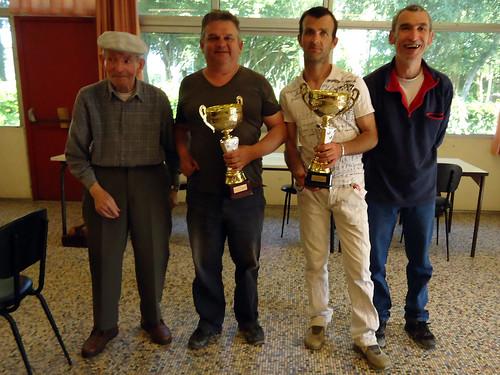 20/06/2015 - Mille Club (Morlaix) : Les finalistes du concours en doublettes mêlées