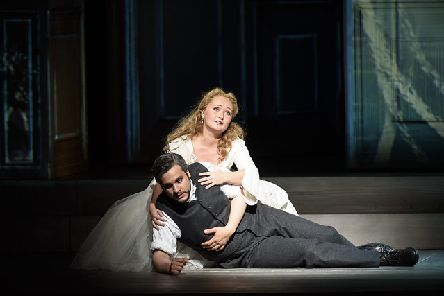 Julia Lezhneva as Zerlina, Nahuel Di Pierro as Masetto in Kasper Holten's Don Giovanni © ROH. Photograph by Bill Cooper, 2015