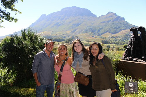 Wine tasting one last time in Stellenbosch with Maureen and Monica!