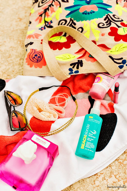 beauty beach bag #MyBeachBlonde