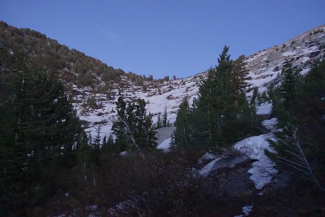 Last posthole snowfield, m1021