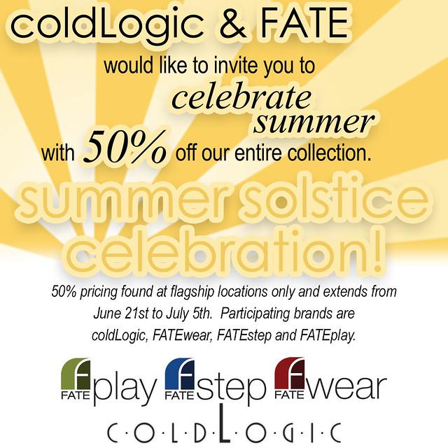 coldLogic summer solstice sale 2015