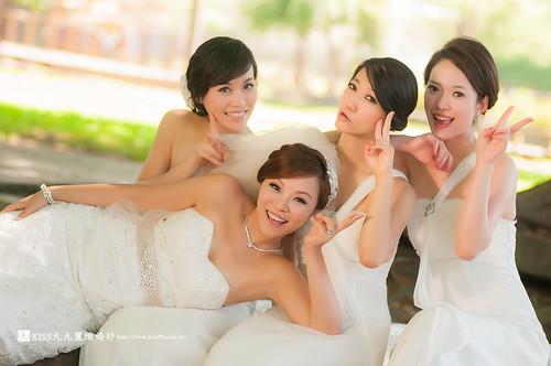 高雄KISS九九麗緻婚紗~跟閨蜜一起拍婚紗!紀念我們逝去的青春… (8)