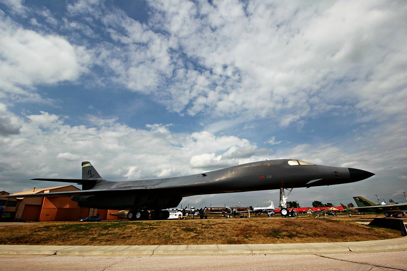 B-1B bomber at South Dakota Air & Space Museum