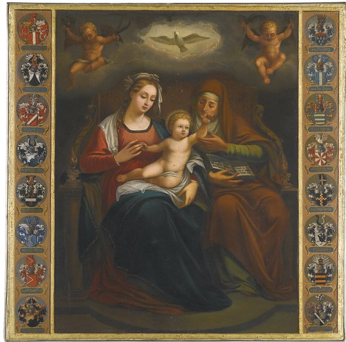 GERMAN SCHOOL, 18TH CENTURY - VIRGIN AND CHILD WITH SAINT ANNE