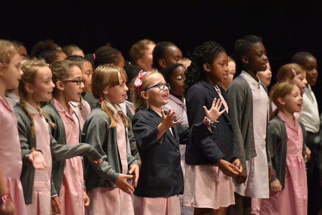 Children performing at FUSED Festival as part of Thurrock Trailblazer © ROH 2015. Photo by Brian Slater.