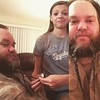 Niece braided the beard tonight.