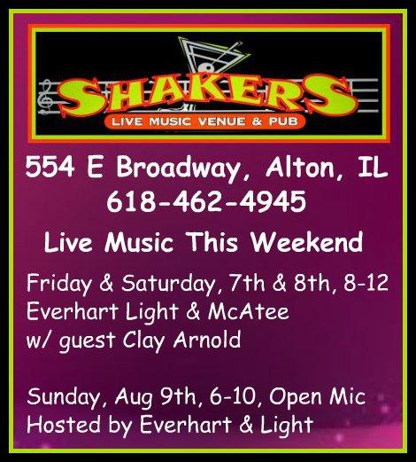 Shakers 8-7 thru 8-9-15