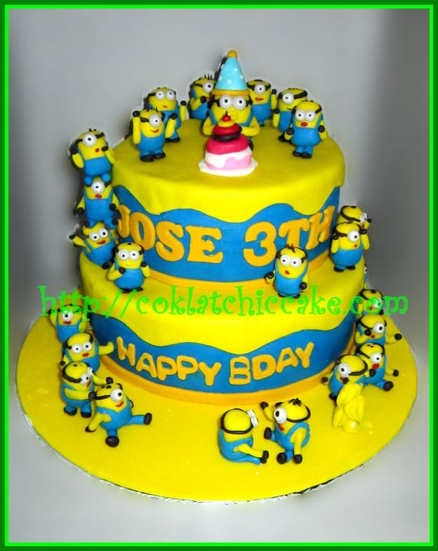 Cake Minion Jose Coklatchic Cake
