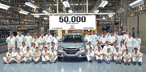 50.000 unidades producidas Honda