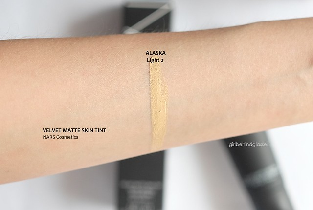 NARS Velvet Matte Skin Tint Alaska swatch