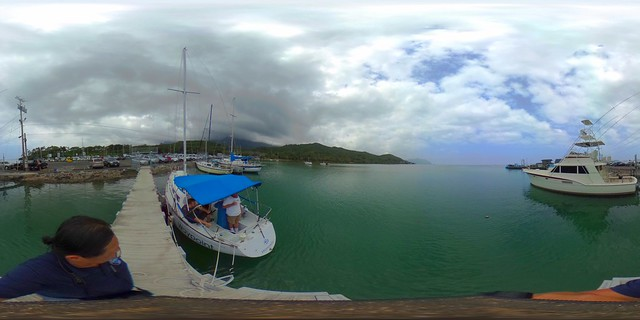 From the He'eia Kai Pier - a 360 degree Equirectangular VR